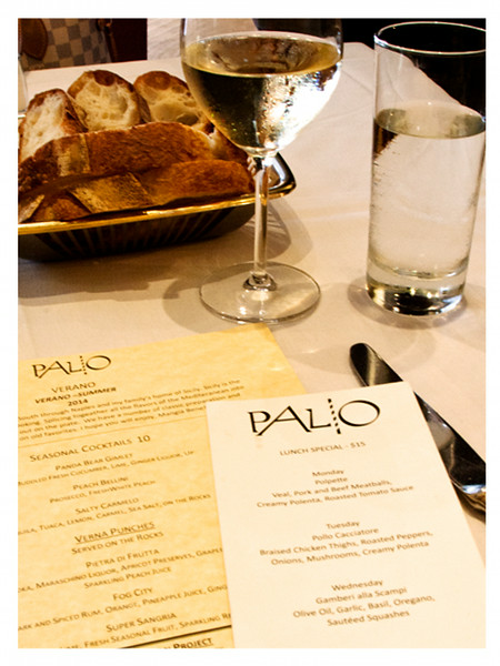 Palio d' Asti Summer Menu