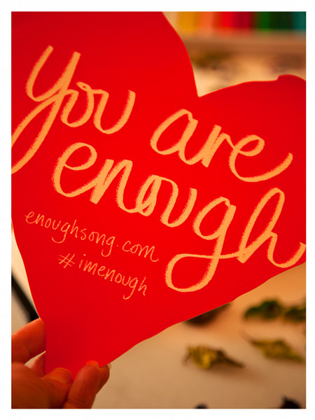 You Are Enough Heart Sticker