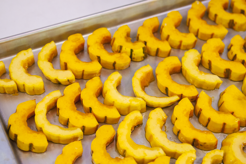 Delicata Squash Ready to Roast