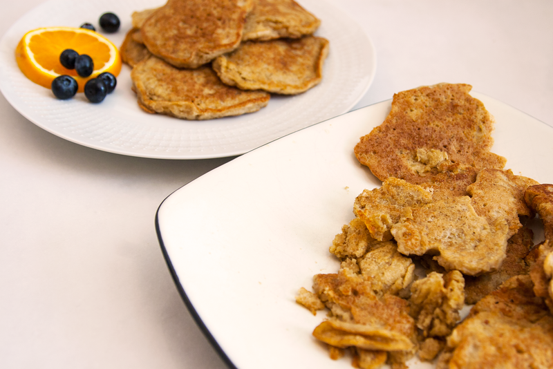 Styled and Unstyled Plates of Swedish Oatmeal Pancakes