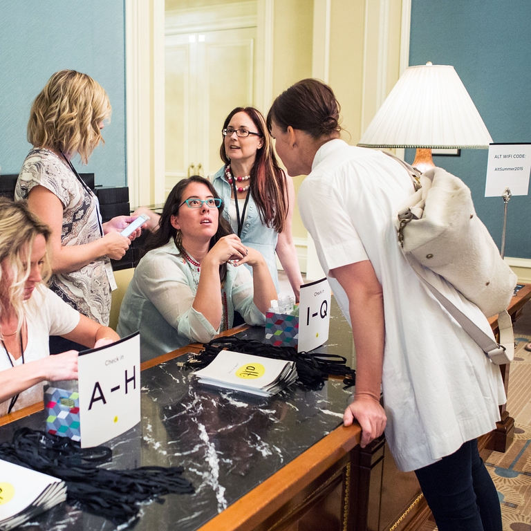 Working Check In at Alt Summer 2015