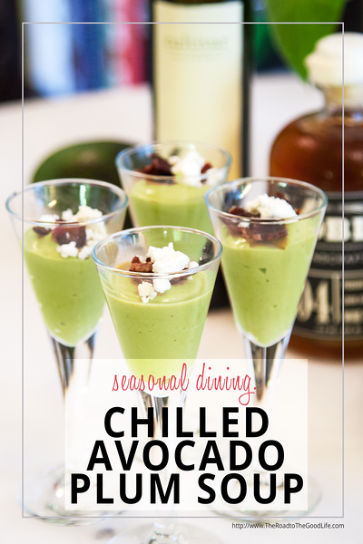 Chilled Plum Avocado Soup