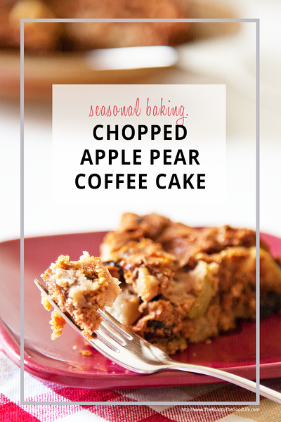 Chopped Apple Pear Coffee Cake Recipe