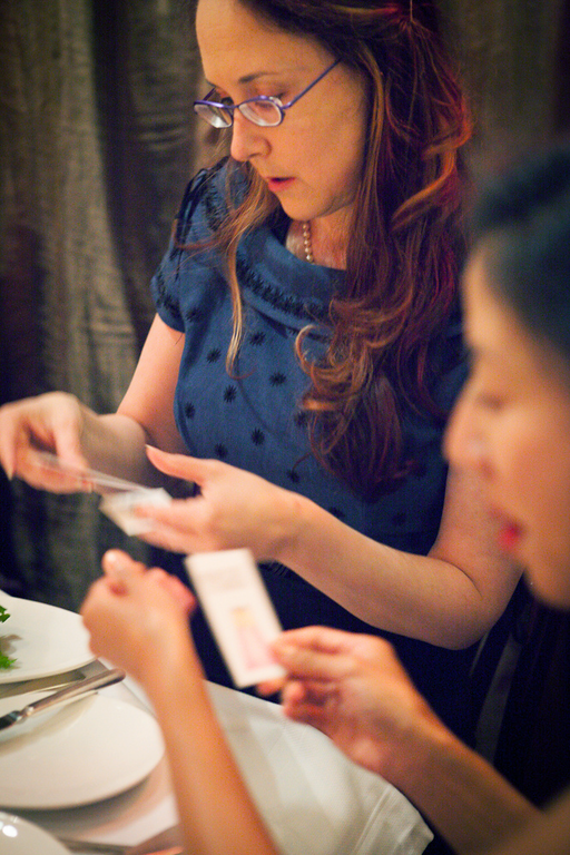 Exchanging Business Cards at Bing Sponsor Dinner at Alt Summit SF 2013