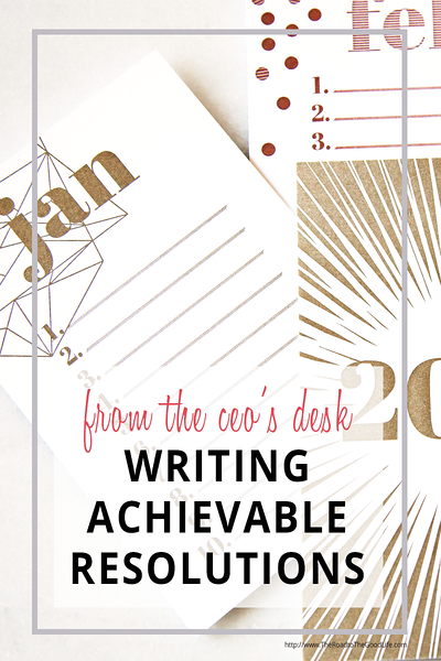 Writing Achievable New Year's Resolutions